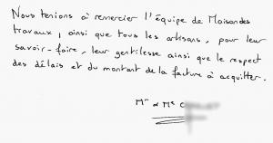 Témoignage de Mr et Mme C
