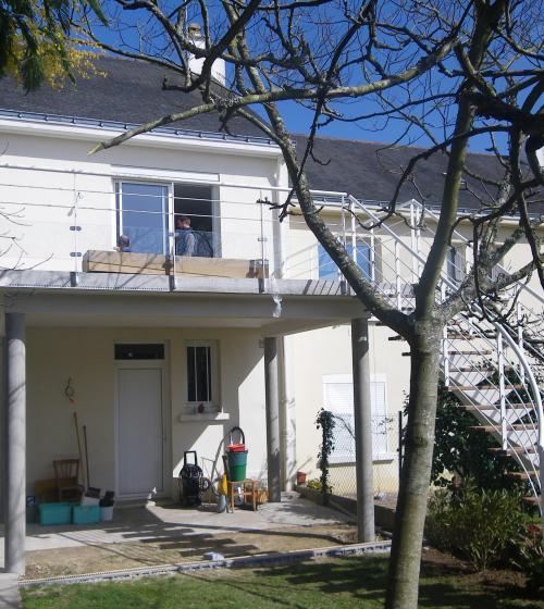 Création d'un balcon avec escalier extérieur