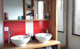 Meuble double vasques posées