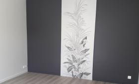 Mur peint et papier peint décoratif
